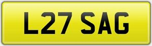 LISA-G-QUALITY-OLD-PREFIX-STYLE-TOP-CAR-REG-NUMBER-PLATE-L27-SAG-NO-HIDDEN-FEES