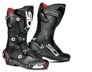 Sidi-Mag-1-CE-Armour-Microfibre-Motorcycle-Motorbike-Sports-Race-Boots-Black