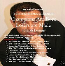 CD- John Di Lemme - 13 Motivational Audio Books + 46 Books/Articles