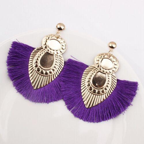 New Women Colorful Geometric Statement Drop Dangle Earrings Wedding Jewelry