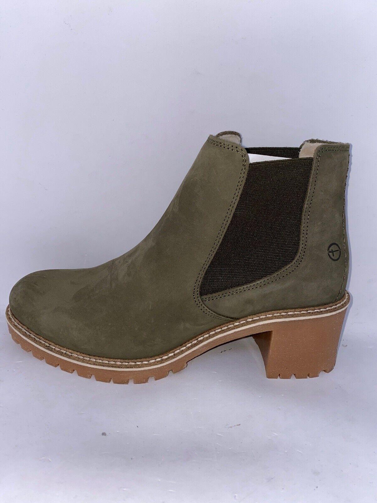 TAMARIS Damen Stiefel Boots Leder Olive 25447 21 Warmfutter US 10 Gr.41 Neu &OVP
