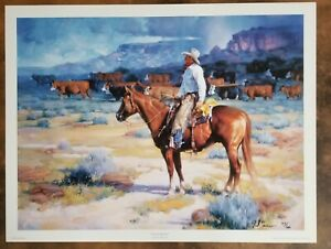 """Jack Sorenson """" Cow Country """" Limited edition Signed and numbered"""