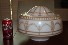 "vintage 11"" Lamp Shade Lampshade milk white finial hole large painted 4.25"" 4"""