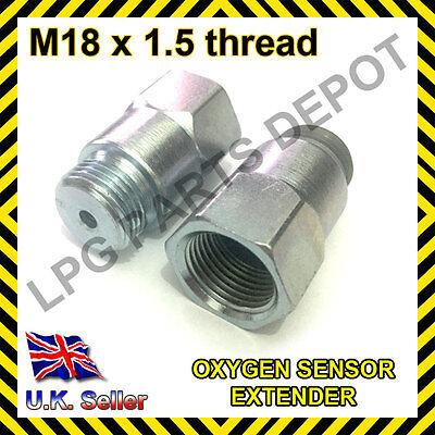 Lambda O2 Oxygen Sensor Extender Spacer for Decat /& Hydrogen M18 x D4 hole STEEL