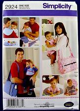 Simplicity His & Hers Diaper Bag Sewing Pattern Bib Changing Pad Burp Cloth 2924