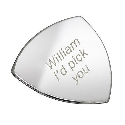 Personalised Stainless Steel I'd Pick You Guitar Plectrum Pick - Free Engraving
