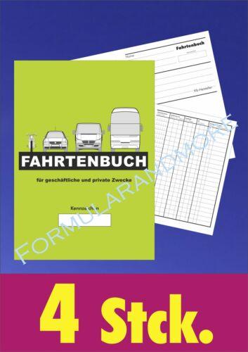 NEU,Fahrbericht,Fahrtenbericht 4 x großes DIN A5  FAHRTENBUCH,FAHRTENBÜCHER
