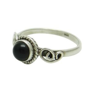 Onyx-925-Sterling-Silver-Ring-Band-UK-Size-N-1-2-Gorgeous-Jewellery-SJR4292C-PAR