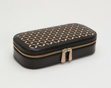 WOLF 301202 Chloé Zip Black Leather Travel Jewelry Case