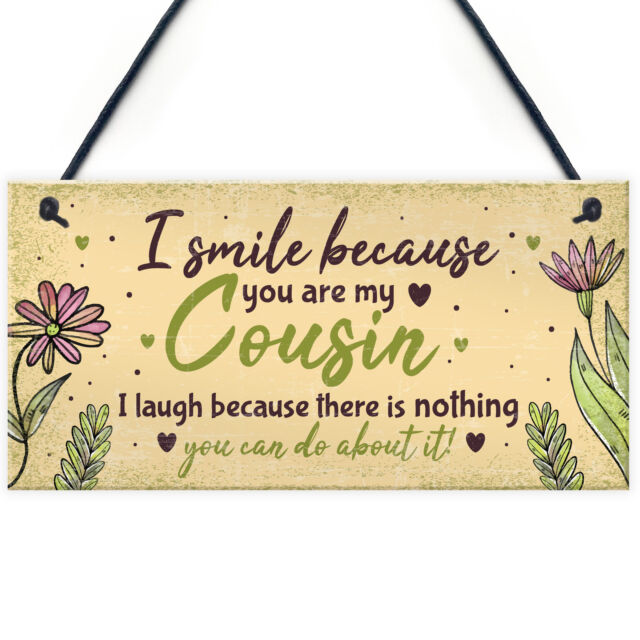 Birthday Gifts For Cousins Hanging Family Plaque Funny Thank You Gift Keepsake Sale Online