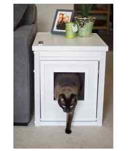 Litter Box Furniture Hidden Cat Kitty Bed Bathroom Stand Side Table