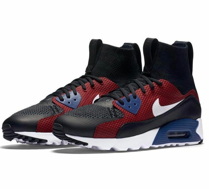 NIKE AIR MAX 90 ULTRA SUPER TINKER HATFIELD HTM MEN'S SHOES BLACK RED 850613 001