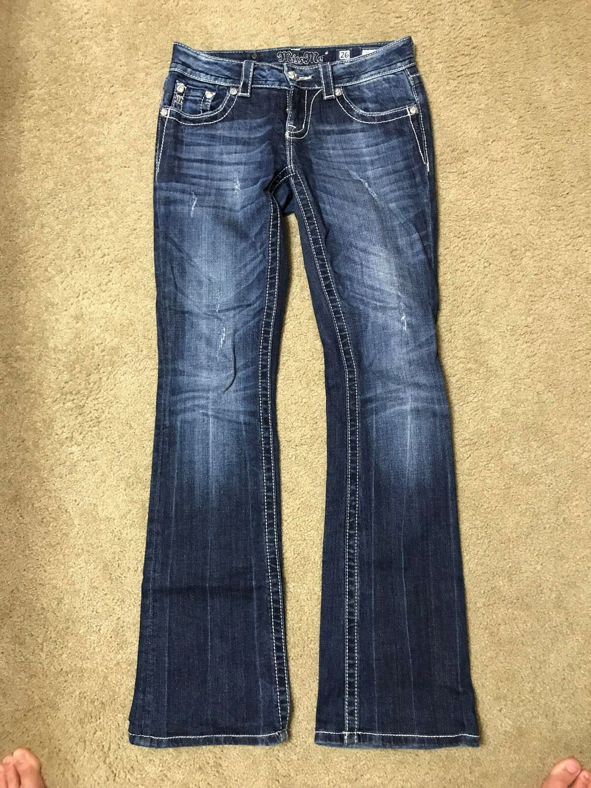 Miss Me Jeans Size 26 Bootcut, 32  Inseam-Excellent Condition