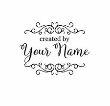 HANDLE MOUNTED PERSONALIZED CREATED  BY CUSTOM RUBBER STAMPS C129