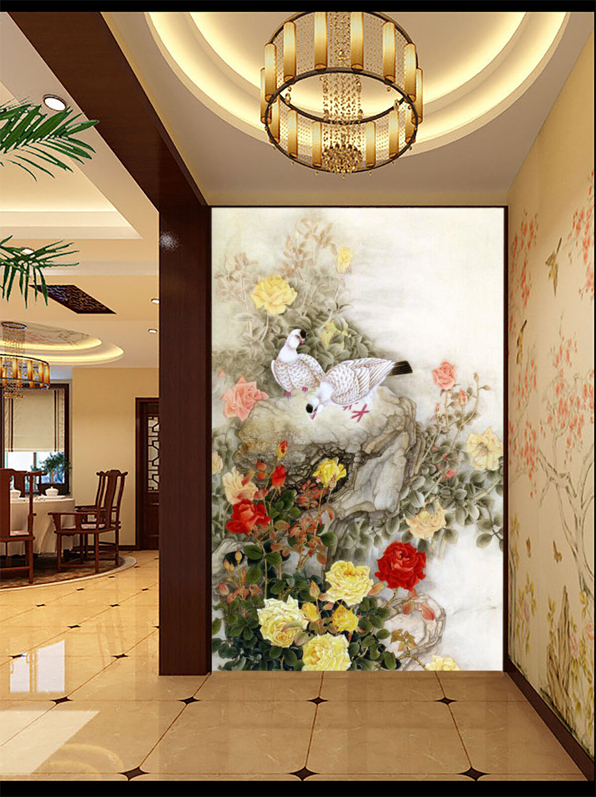 3D Flowers Birds 108 WallPaper Murals Wall Print Decal Wall Deco AJ WALLPAPER
