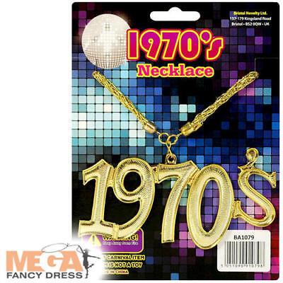 Collana Catena 1970s Adulti Costume 70s Disco Groovy Funk Costume Accessorio-mostra Il Titolo Originale