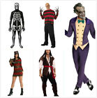 Adults Halloween Costume Outfit Clown/ Skeleton /Freddy Krueger /Pirate /Skull