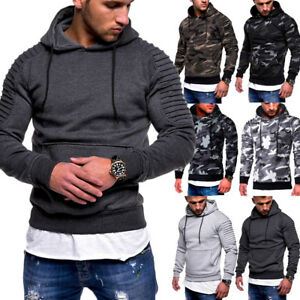 Hiver-Automne-Hommes-a-Manches-Longues-Sweat-a-Capuche-Pullover-a-Capuche-Top-Pull-Pull