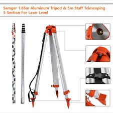Survey Tripod Staff Kit 165m 5m For Laser Level Surveying Construction Lasers