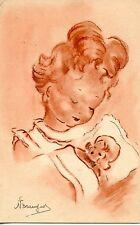 CARTE POSTALE / ILLUSTRATEUR / FANTAISIE /  ENFANT AVEC UNE POUPEE