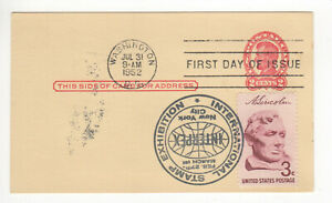 SSS-Classic-Postal-Card-FDC-1952-2c-Lincoln-Stamped-INTERPEX-Sc-UX43