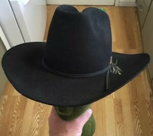 Eddy Bros Black Cowboy Hat 6 7 8 XX Fur Blend Wool Designed by Chris ... 8967d2073cf