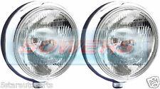 "SIM STAINLESS STEEL CHROME 9"" CIBIE SUPER OSCAR H3 SPOT/DRIVING LAMPS/LIGHTS"