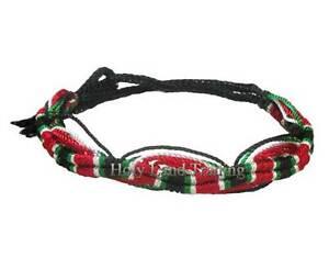 Palestine-Flag-Friendship-Bracelet-Nylon-Wristband-Jerusalem-Arab-Handmade