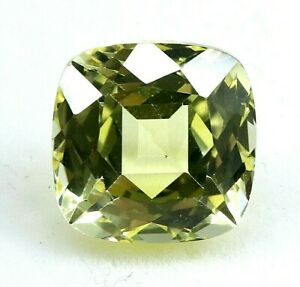 8.85 Ct Natural Yellow Sapphire Cushion Cut AGSL Certified Loose Gemstone