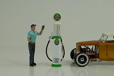 petrol pump pompe a essence Magnolia Gasoline 1:18 no car Figur Tanksäule