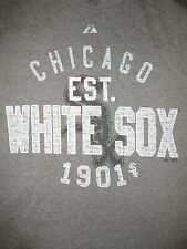 Chicago White Sox Vintage Style Majestic T Shirt Sz L MLB Baseball South Side IL