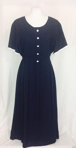 Blue maternità anni da Vestito '80 regolabile vintage Xl 0Fwwaq