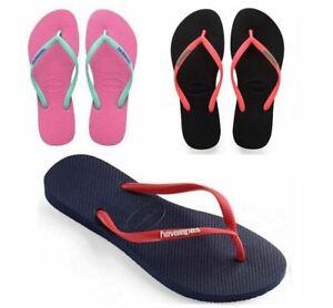 4d35171ba Havaianas Slim Women Logo Pop-up Flip Flop Sandals Blue Pink Black ...