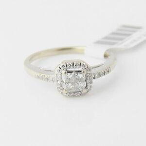 fc7fa5dec Details about NYJEWEL 14k Solid Gold Brand New Stylish Filigree Diamond  Engagement Ring