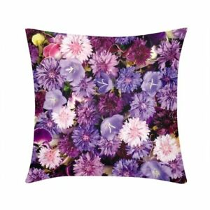 Purple-Flowers-Floral-Cushion-Cover-Square-Throw-Pillow-Case-Sofa-Couch-16-18-20