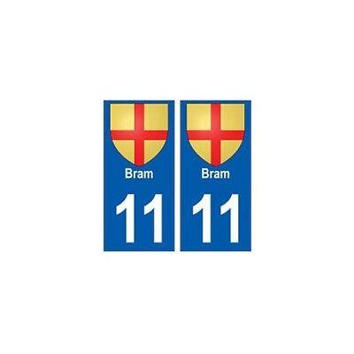 11 Bram Blason Ville Autocollant Plaque - Angles : Droits Ricco Di Splendore Poetico E Pittorico