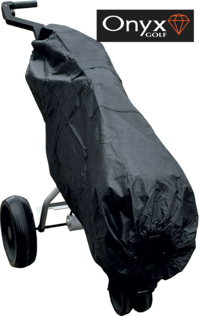 f11cdd207be0 ONYX BLACK NYLON GOLF BAG RAIN COVER - - with POCKETS