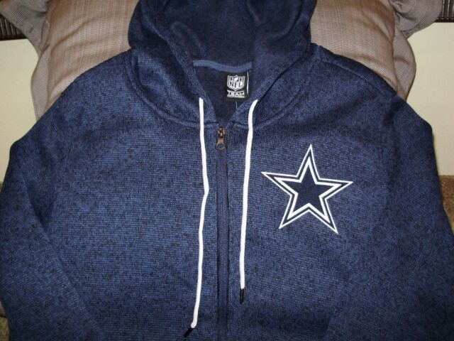 50816ba4f NFL Dallas Cowboys Sparkle Bling Blue Full Zip Hoodie Jacket Women s Medium