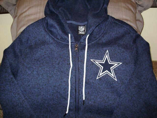 sale retailer 923e2 ed7a0 NFL Authentic Dallas Cowboys Women's Knit Navy Full Zip Hoodie Jacket Size S