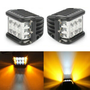 12V-24V-4-039-039-LED-Arbeitsscheinwerfer-Side-Shooter-Lampe-Offroad-Auto-SUV-Leuchte