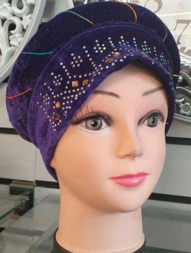 Muslim Women Velvet  Caps Turban Islam Head Wrap Cover Hijab Chemo Hat