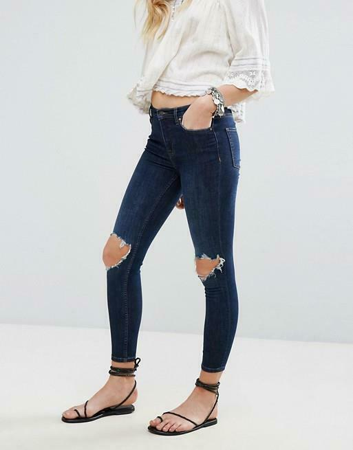 NWOT FREE PEOPLE HIGH RISE BUSTED SKINNY JEANS sz 24W
