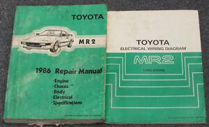 1986 toyota mr2 service repair manual set ebay rh ebay com 1986 Toyota MR2 Interior 1987 Toyota MR2
