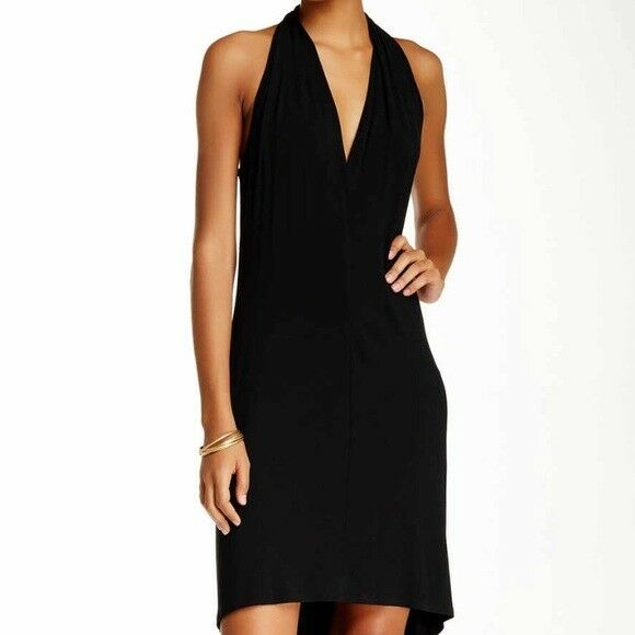 Go Couture V-neck Sleeveless Dress schwarz XL Extra Large Modal Stretch Hi-low 158