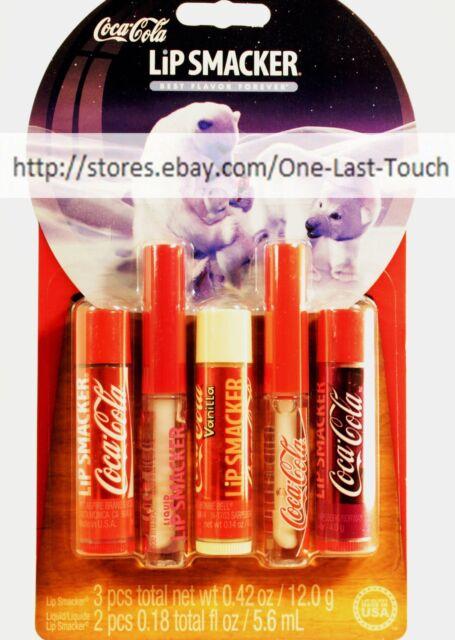 LIP SMACKER* 5pc Lip Gloss/Balm COCA-COLA Refreshing Collection CLASSIC Soda Set