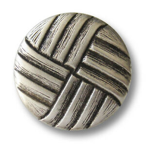 Ösen Metallknöpfe mit schwarzem Wappen 4069si-20 5 edle altsilberfb B-WARE