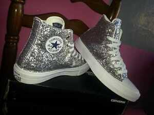 star Total White With Silver Glitter | eBay
