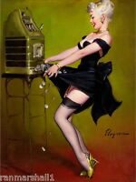 1940s Pin-up Girl Jackpot Picture Poster Print Art Vintage Pin Up