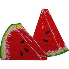 Embroidery Applique Patch Sew Iron Badge Sequin Watermelon Silece Iron On