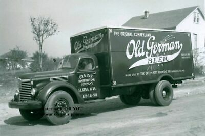 Vintage Olympia Beer Truck PHOTO Bar Sign Ad Brewery circa 1940